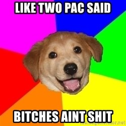 Advice Dog - like two pac said Bitches aint shit