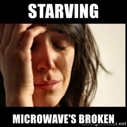 First World Problems - starving microwave's broken