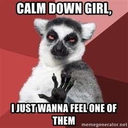 Chill Out Lemur - Calm down girl, i just wanna feel one of them