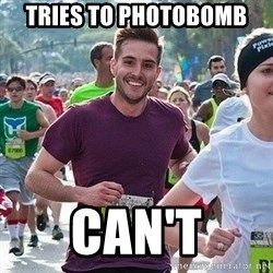 Ridiculously photogenic guy (Zeddie) - tries to photobomb can't