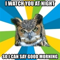 Old Navy Owl - I watch you at night so i can say good morning