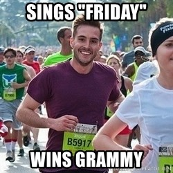 "Ridiculously photogenic guy (Zeddie) - Sings ""friday"" wins grammy"