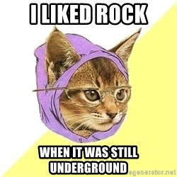 Hipster Kitty - I liked rock when it was still underground