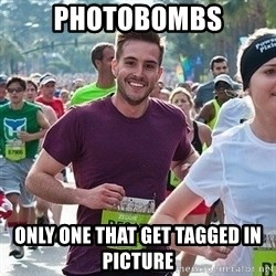 Ridiculously photogenic guy (Zeddie) - photobombs Only one that get tagged in picture