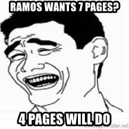 Yao Ming 5 - Ramos wants 7 pages? 4 pages will do
