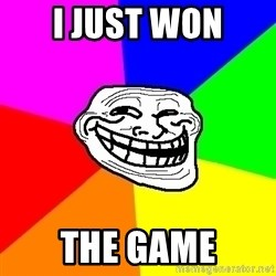 Trollface - i just won the game