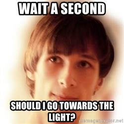 Typical Nicky 4 - Wait a second  Should I go towards the light?