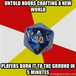 Friday Night Dnd - Untold hours crafting a new world Players burn it to the ground in 5 minutes