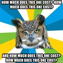 Old Navy Owl - How much does this one cost?  How much does this one cost? And how much does this one cost?  How much does this one cost?