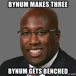 mikebrown1 - bynum makes three bynum gets benched