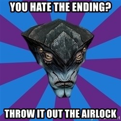 Javik the Prothean - You hate the ending? throw it out the airlock