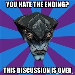 Javik the Prothean - you hate the ending? this discussion is over
