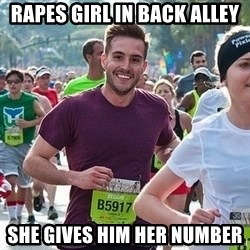 Ridiculously photogenic guy (Zeddie) - Rapes girl in back alley She gives him her number