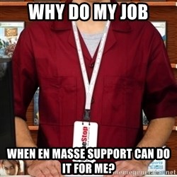 Douchebag Gamestop Employee - why do my job when en masse support can do it for me?