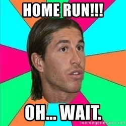 Sergio Ramos empanao - HOME RUN!!! OH... WAIT.