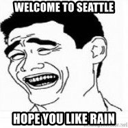 Yao Ming 5 - WElcome to seattle hope you like rain