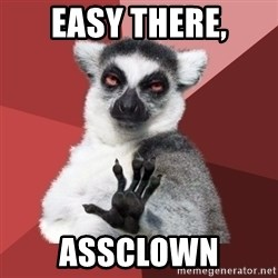 Chill Out Lemur - Easy there, Assclown