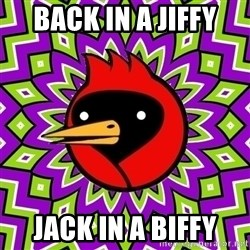 Omsk Crow - back in a jiffy jack in a biffy