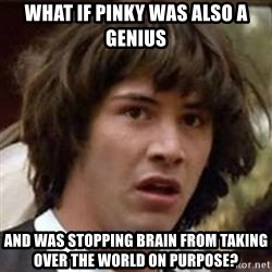 Conspiracy Keanu - What if Pinky was also a genius and was stopping Brain from taking over the world on purpose?