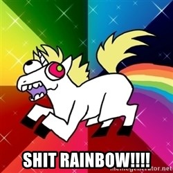 Lovely Derpy RP Unicorn -  Shit Rainbow!!!!