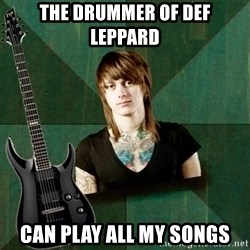Progressive Guitarist - The drummer of def leppard can play all my songs