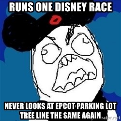 runDisney Rage - runs one disney race never looks at epcot parking lot tree line the same again