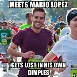 Ridiculously photogenic guy (Zeddie) - meets mario lopez gets lost in his own dimples