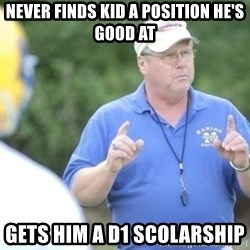"Coach ""Dick"" Dakosty - Never findS kid a position he's good at Gets him a D1 scolArsHip"