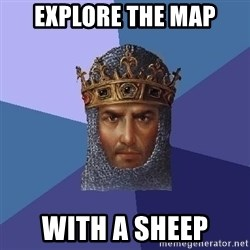 Age Of Empires - explore the map with a sheep