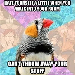 Former Otaku Finch - Hate Yourself a Little when you walk into your room Can't Throw away your stuff