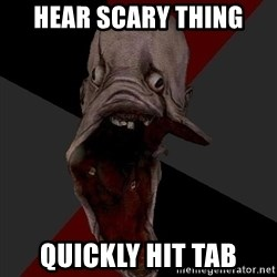 Amnesiaralph - HEAR SCARY THING QUICKLY HIT TAB