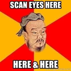 Wise Confucius - scan eyes here here & here