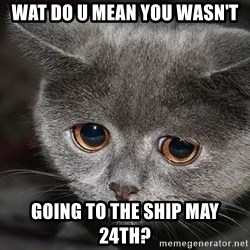 Sadcat - Wat do u mean you wasn't going to The Ship May 24th?