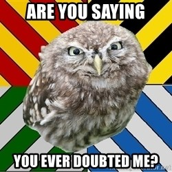 JEALOUS POTTEROMAN - are you saying you ever doubted me?