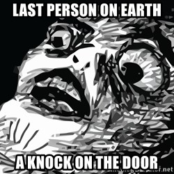 shocked - last person on earth a knock on the door