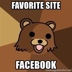 Pedobear - favorite site facebook