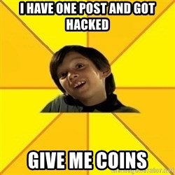 es bakans - I have one post and got hacked Give Me Coins