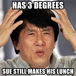 Jackie Chan - HAS 3 Degrees Sue Still Makes His lunch