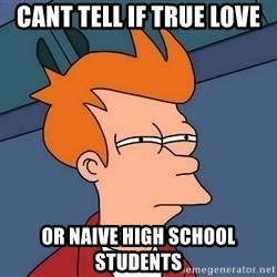 Futurama Fry - Cant tell if true love or naive high school students