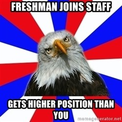 ROTC Eaglee - Freshman joins staff gets higher position than you