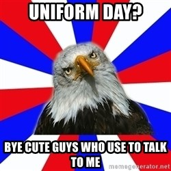 ROTC Eaglee - Uniform day? bye cute guys who use to talk to me