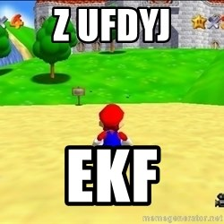Mario looking at castle - z ufdyj ekf