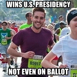 Ridiculously photogenic guy (Zeddie) - wins u.s. presidency not even on ballot