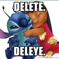 Lilo And Stitch - delete. deleye.