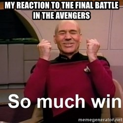 So Much Win - my reaction to the final battle in the avengers