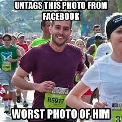 Ridiculously photogenic guy (Zeddie) - untags this photo from facebook worst photo of him