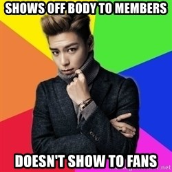 T.O.P(BIGBANG) - Shows off body to members doesn't show to fans