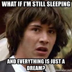 Conspiracy Keanu - what if I'm still Sleeping and everything is just a dream?
