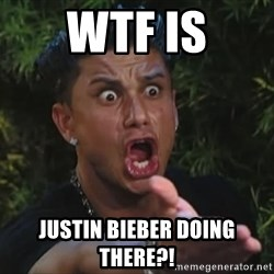 Pauly D - WTF is justin bieber doing there?!