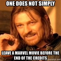 One Does Not Simply - one does not simply leave a marvel movie before the end of the credits